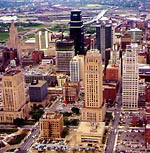 Downtown Kansas City from the Air